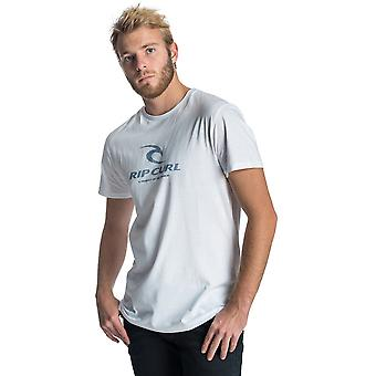 Rip Curl Peak Icon Short Sleeve T-Shirt in Optical White