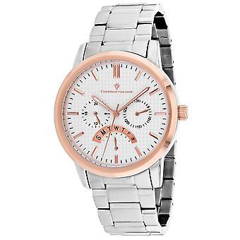 Christian Van Sant Men-apos;s Alden Silver Dial Watch - CV0322