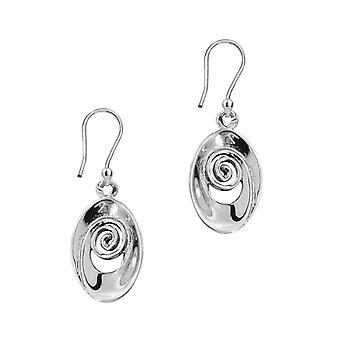 Celtic Spiral Drop Style Pair Of Earrings 'Iseabeal'