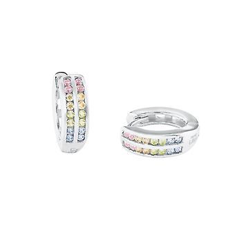 Princess Lillifee Kids Earrings Hoops Silver Zirconia Bunt 2024374