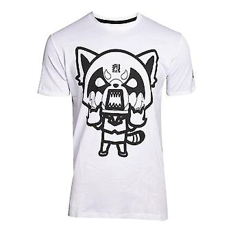 Aggretsuko I Wanna Eat Mens T-Shirt White X-Large (TS681604AGG-XL)