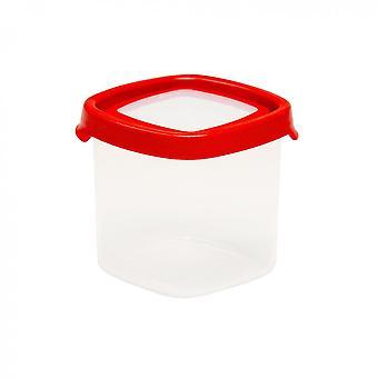 Wham Storage 3.02 Seal It 650ml Square Airtight Plastic Food Box