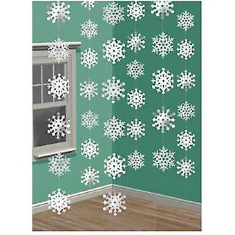 Amscan Hanging Snowflake Décorations (Pack de 6)