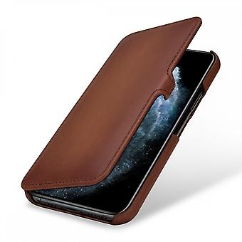 Case For iPhone 11 Pro Book Type Brown In True Leather