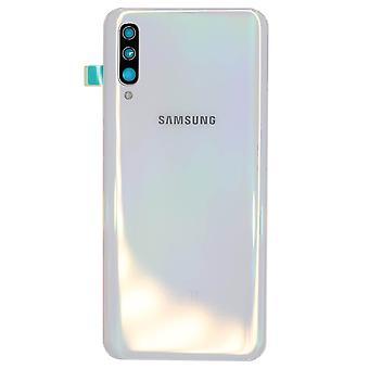Hvidt batteridæksel til Samsung Galaxy A50