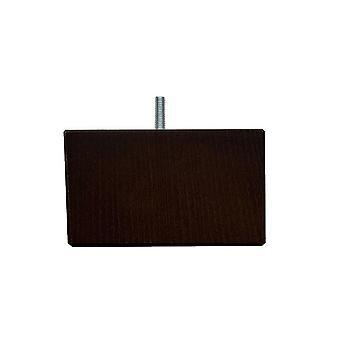 Donker bruine vierkanten houten meubelpoot 10 cm (M8)