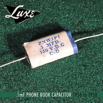Luxe 1956-1958 Phone Book: Wax Impregnated Paper & Foil .1mf Capacitor