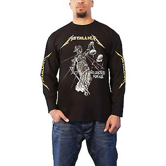 Metallica T Shirt And Justice For All Band Logo Official Mens Long Sleeve