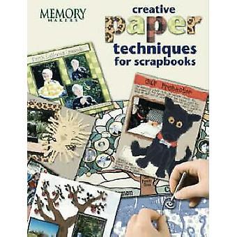 Kreativ papper teknikerna för scrapbooks vid minne beslutsfattare