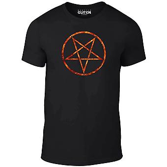 Mannen ' s Vlaming pentagram t-shirt