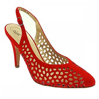 Peter Kaiser Falla Red Suede High Heel Sling Back Shoes