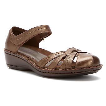 Aravon Women's Clarissa Sandal, Size: 9 Width: 2A Color: Bronze