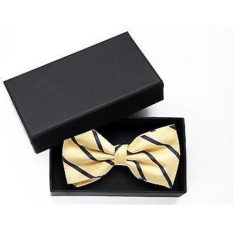 Butterfly gul blå stribet bue Fabio Farini Noble Shine stribe Kors binder
