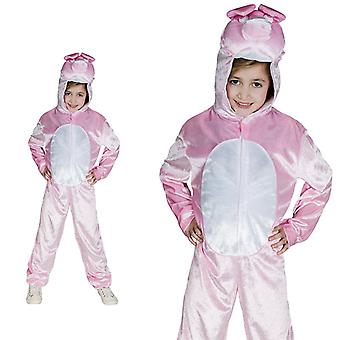 Los niños de granja de cerdo cerdo hucha rosa traje traje de cerdo de una pieza