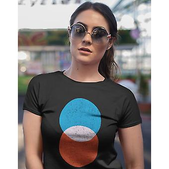 Circles interception women's crop top bella+canvas 6682