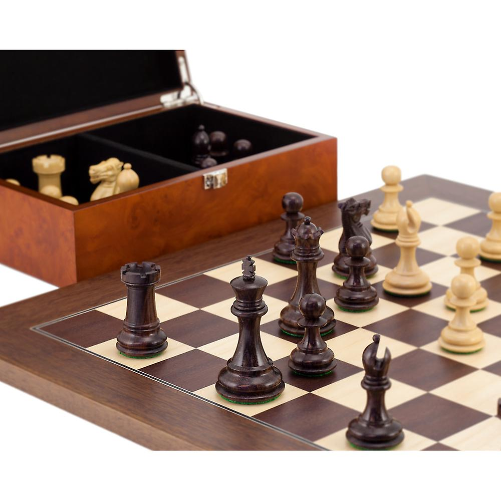 Windsor Rosewood and Montgoy Palisander Chess Set