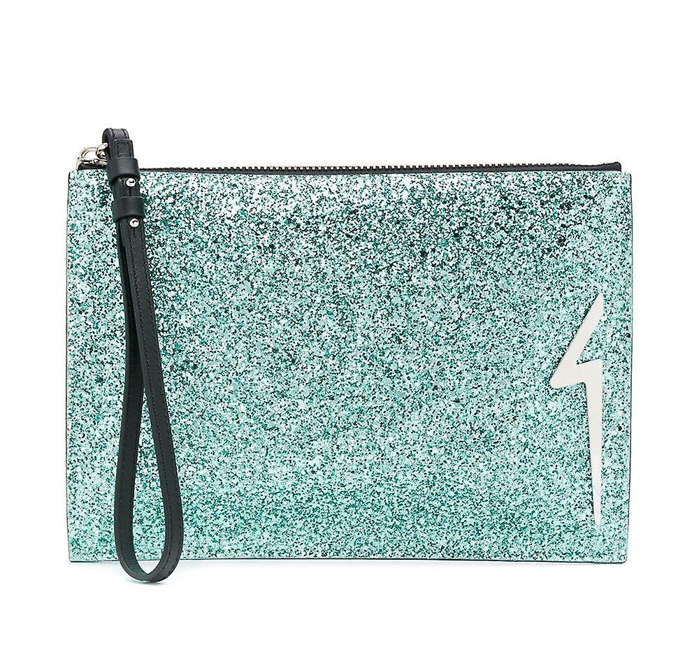 G-Glitter Logo Clutch Bag