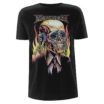 Megadeth Flaming Vic Dave Mustaine Thrash Metal T-Shirt ufficiale