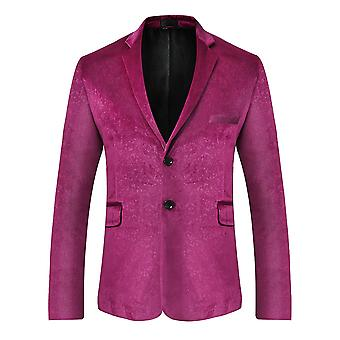 Allthemen Men 's Solid Color Suit Jacket Velvet Formal Party Banquet Suit Jacket