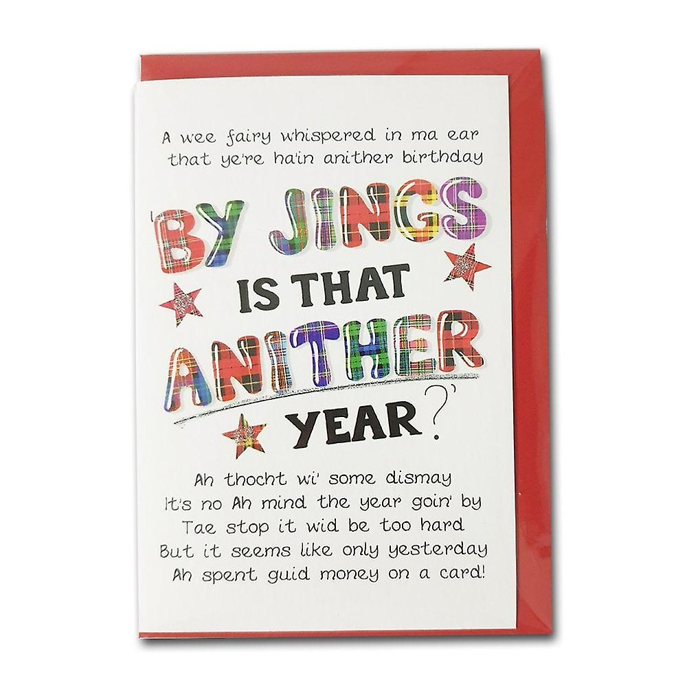 Embroidered Originals By Jings Is That Anither Year? Birthday Card