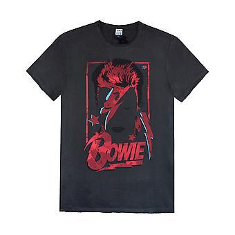 Förstärkt David Bowie Aladdin Sane Mens T-shirt