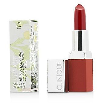 Clinique Pop Matte Lip Colour - Amorce - 03 Ruby Pop 3.9g/0.13oz
