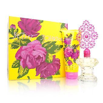 Betsey johnson for women 2 piece set includes: 3.4 oz eau de parfum spray + 6.7 oz bath & shower gel