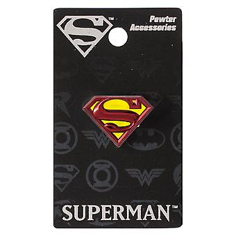 Lapel Pin - DC Comics - Superman Logo Pewter Colored New Licensed 48386
