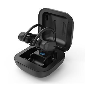 Caletop B1 TWS Wireless Earpieces with Ear Hook Bluetooth 5.0 In-Ear Wireless Buds Earphones Earbuds 950mAh Earphone Black