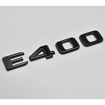 Gloss Black E400 Flat Mercedes Benz Car Model Numbers Letters Badge Emblem For E Class W210 W211 W212 C207/A207 W213 AMG