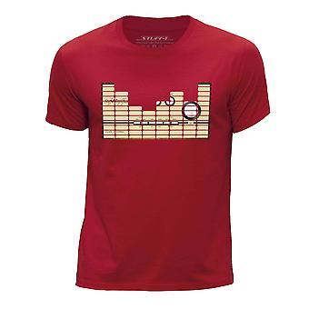 STUFF4 Boy's ronde hals T-T-shirt/Equalizer/versterker/rood
