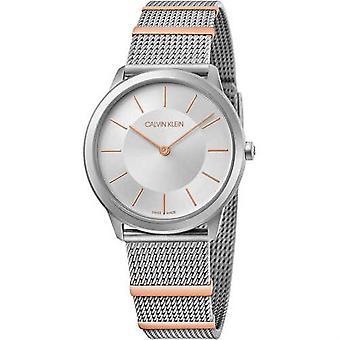 Calvin Klein K3M521Y6 Minimal Collection Silver Tone Wristwatch