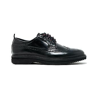 Walk london empire brogue shoe in black leather