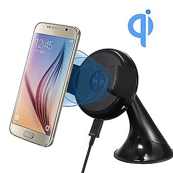 Qi 5v 2a wireless car charger dock wind shield mount phone holder for mobile phone