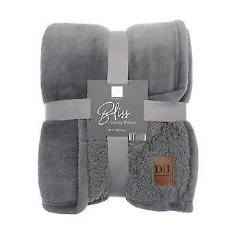Country Club Bliss Luxury Throw, Grey 127 x 152cm