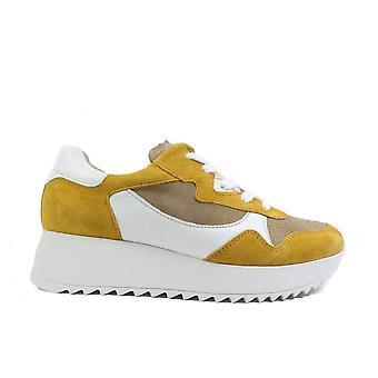 Paul Green 4949-02 Cuero Amarillo Mujer Encaje Zapatillas Casual