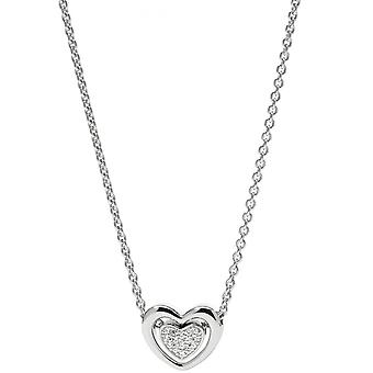 Fossil necklace and pendant JFS00300040 - STERLING SILVER Silver Crystals Transparent Women