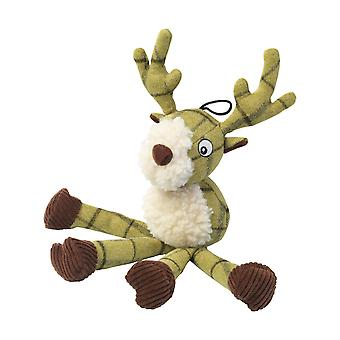 House Of Paws Plush Tweed Stag Long Legs Dog Toy