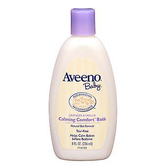 Aveeno baby calming comfort bath, lavender & vanilla, 8 oz