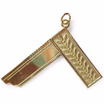 Vrijmetselaars gouden ambachtelijke lodge kraag juweel goud - aanbiddelijke meester awo31006