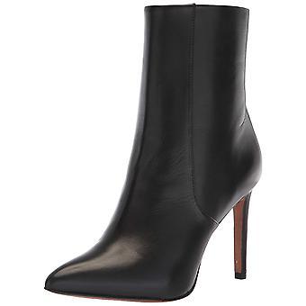 BCBGMAXAZRIA Womens Ava Snake Leather Pointed Toe Mid-Calf Fashion Boots