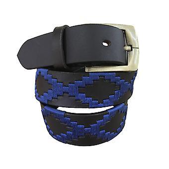 carlos diaz unisex  brown leather  polo belt cdpbhk104