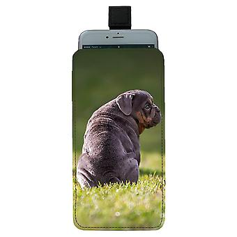 Dog English Bulldog Pull-up Mobile Bag