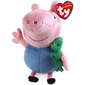 """Peppa Pig TY Plys 7"""" George"""
