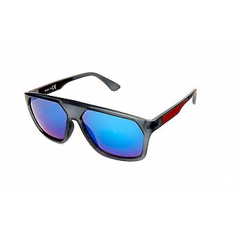 Sunglasses Rectangular Male Blue/Grey/Red (20-201)