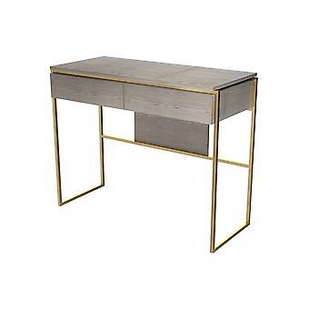 Gillmore Luxe - Mesa de vestir con cajón en varias manchas de roble y acabados de marco