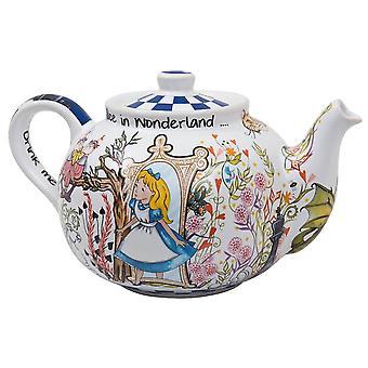 Alice durch das Aussehen Glas Medium Teekanne