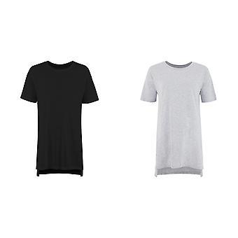 Rahat Co Bayanlar / Bayanlar Büyük Boy Sleepy T Kısa Kollu Pijama T-Shirt