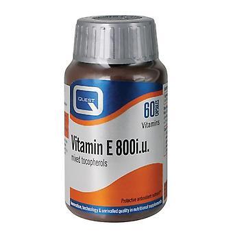 Quest vitaminer vitamin E 800iu mjuk gel mössor 60 (601328)