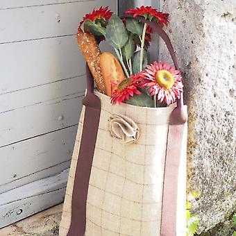 Kate  Tote Handbag - Slate Oatmeal